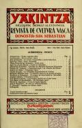 Yakintza : revista de cultura vasca / Euskaltzaleak.